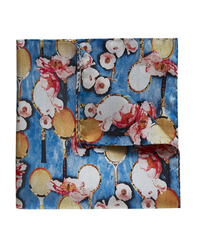 Men's Silk Floral Pocket Square