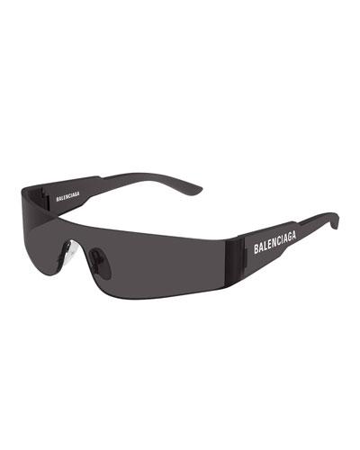 Men's Rimless Wrap Sunglasses