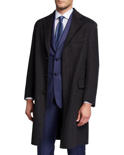 Men's Double-Face Knit Unlined Topcoat