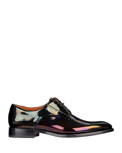 Men's Classic Patent Leather Derby Shoes
