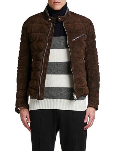 Men's LeFranc Quilted Suede Jacket