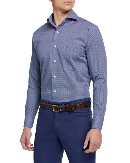 Peter Millar Men's Crown Printed Woven Sport Shirt