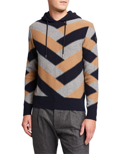 Men's Colorblock Hooded Sweater