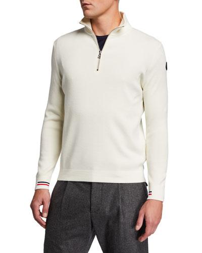 Men's Quarter-Zip Wool Sweater