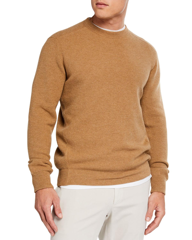 Ermenegildo Zegna Sweaters MEN'S CASHMERE-BLEND CREWNECK SWEATER