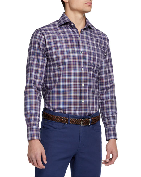 Peter Millar Men's Crown Ease Plaid Sport Shirt