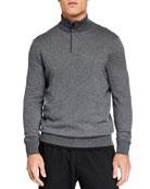 Ermenegildo Zegna Men's Textured Quarter-Zip Sweater
