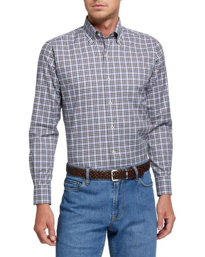 Men's Mini-Check Woven Sport Shirt