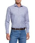 Peter Millar Men's Ease Crown Check Sport Shirt
