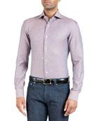 Isaia Men's Navetta Heathered Sport Shirt