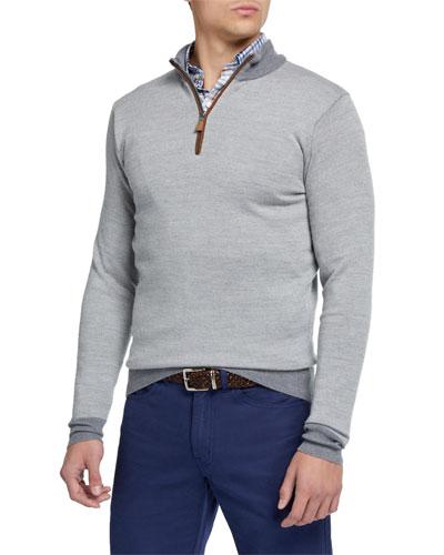 Men's Birdseye 1/4-Zip Sweater