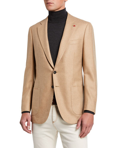 Men's Two-Button Twill Blazer