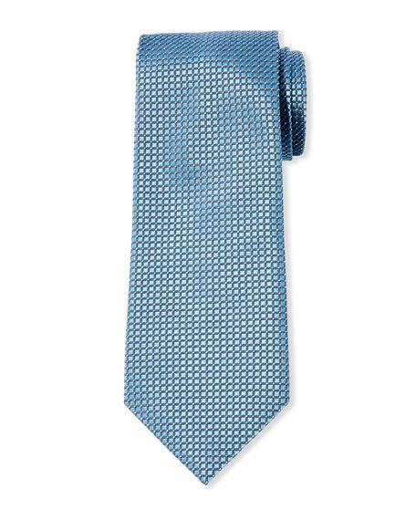 Giorgio Armani Men's Micro-Check Mulberry Silk Tie