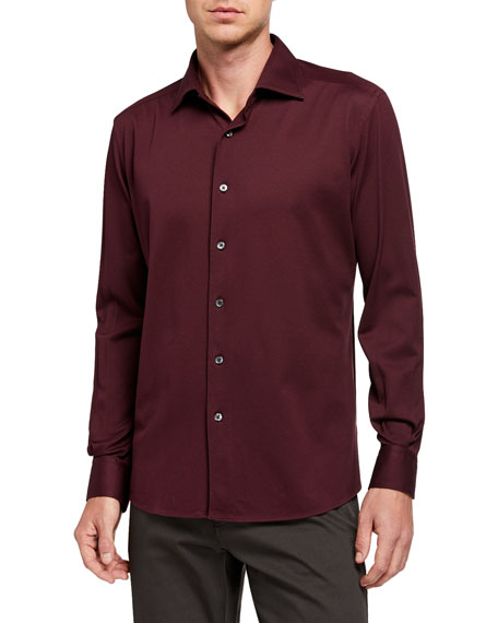 Ermenegildo Zegna Men's Cotton Jersey Sport Shirt