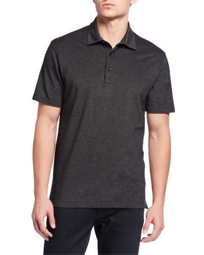 Men's Pique Polo Shirt, Black