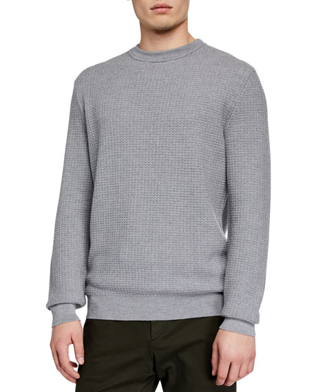 Ermenegildo Zegna Men's Textured Cashmere-Blend Sweater