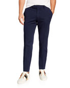 Ermenegildo Zegna Men's Garment-Dyed Tab Twill Pants, Navy