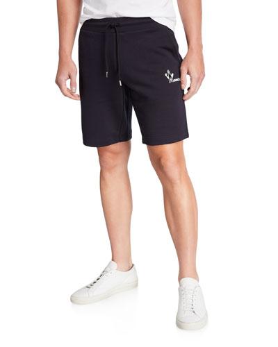 Men's Solid Cotton Sweat Shorts