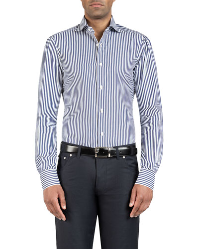 Men's Bengal-Striped Dress Shirt