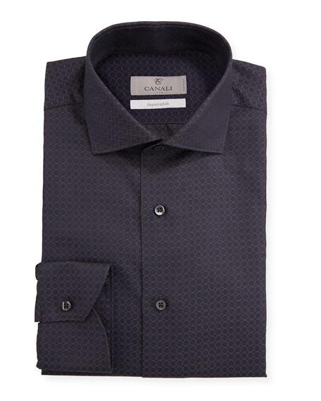 Canali Men's Impeccabile Geometric Jacquard Dress Shirt