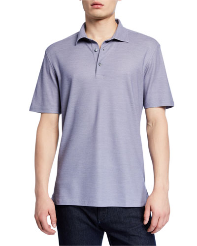 Men's Birdseye-Knit Polo Shirt