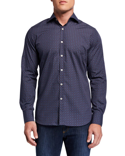 Men's Medallion-Print Sport Shirt
