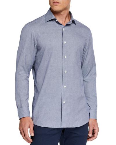 Men's Micro-Print Sport Shirt