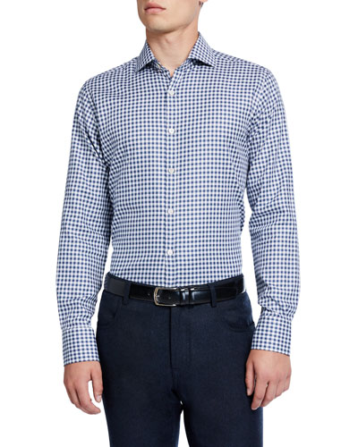 Men's Modern Gingham Sport Shirt