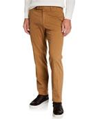 Ermenegildo Zegna Men's Garment-Dyed Tab Twill Pants, Light