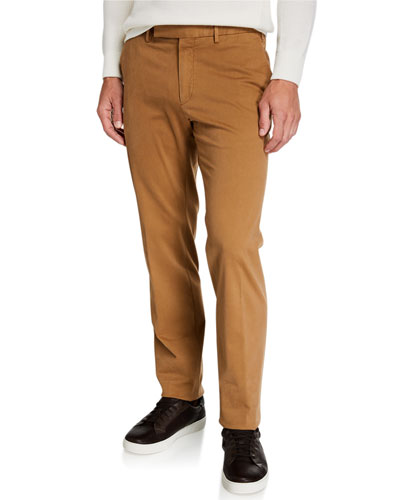Men's Garment-Dyed Tab Twill Pants, Light Beige