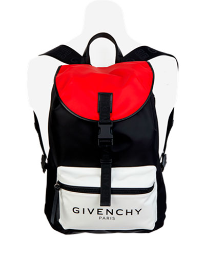 Men's Light 3 Colorblock Nylon Backpack