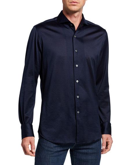 Canali Men's Mercerized Sport Shirt