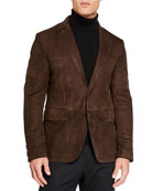 Ermenegildo Zegna Men's Suede Two-Button Jacket