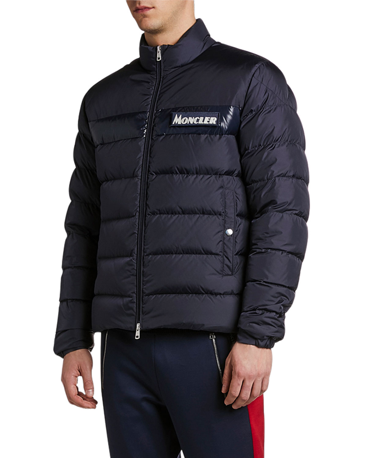 dbb8c60fa Men's Servieres Zip-Up Puffer Jacket in Blue