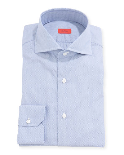 Men's Pique Cotton Dress Shirt