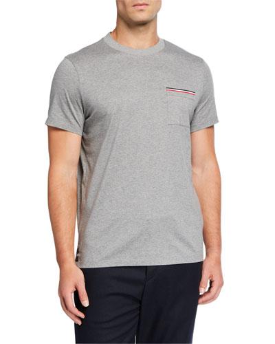 Men's Stripe Pocket T-Shirt
