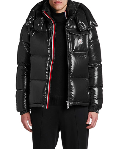 1751e2d82 Moncler Black Down Fill Coat | Neiman Marcus