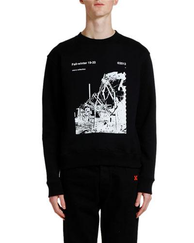 Men's Ruined Factory Graphic Crewneck Sweatshirt