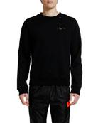 Off-White Men's Acrylic Arrows Slim Crewneck Sweatshirt