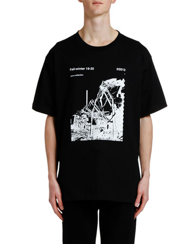 Men's Ruined Factory Oversized Graphic T-Shirt