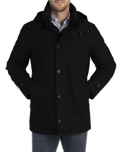 Men's City Hooded Wool Parka