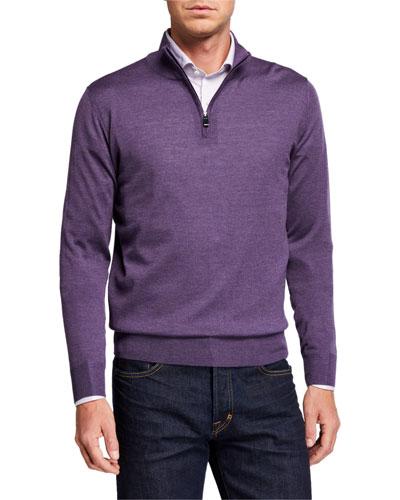 Men's 1/4-Zip Mock-neck Sweater