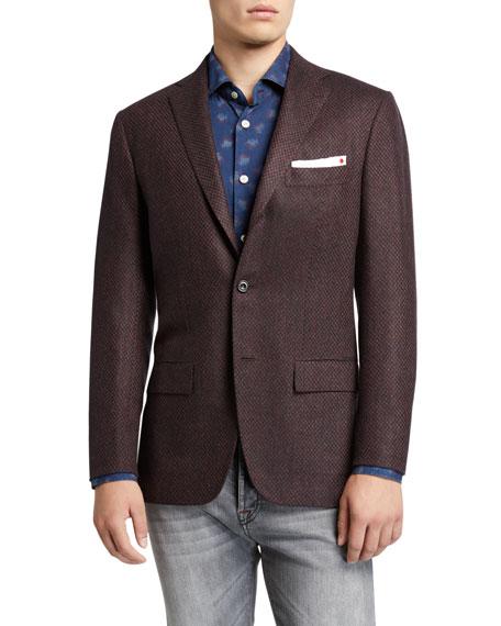 Kiton Men's Tic-Pattern Two-Button Jacket