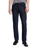 Ermenegildo Zegna Men's Dark-Wash Straight-Leg Jeans