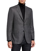 Canali Men's Houndstooth Wool Sport Jacket