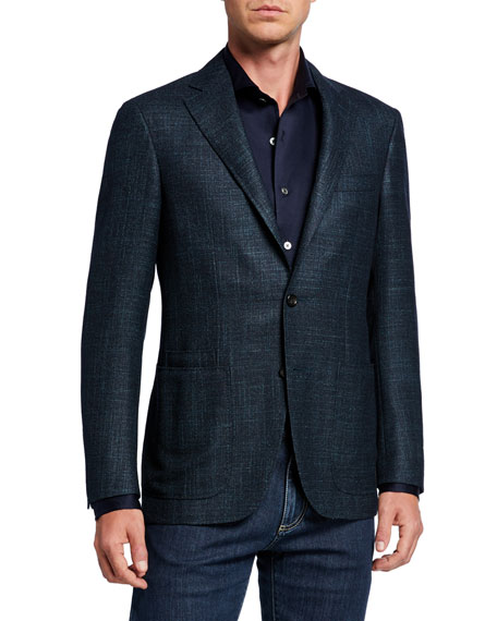 Canali Men's Textured Tri-Blend Two-Button Jacket
