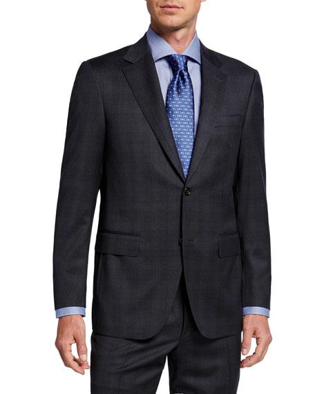 Canali Men's Two-Piece Plaid Wool Suit