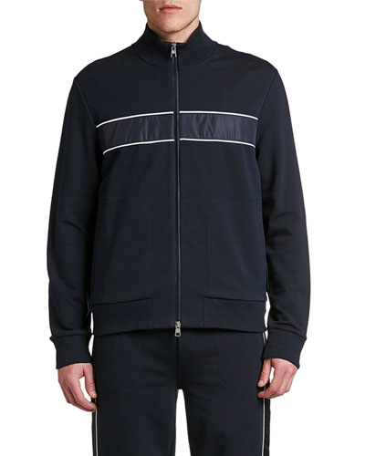 Men's Stripe Zip-Up Track Jacket