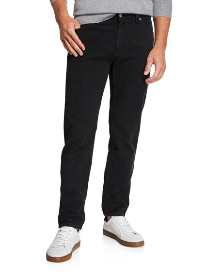 Neiman Marcus Men's Garment-Dyed Moleskin Pants, Charcoal
