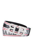 Bally Men's Allover Logo Belt